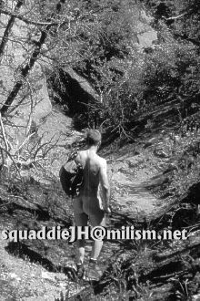 squaddie John hiking naked